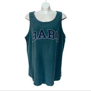 BABB Comfort Colours Teal XL Workout Tank Top